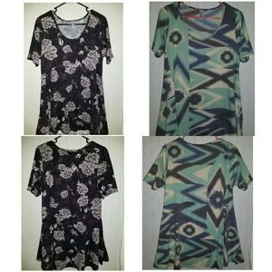 Two Lularoe Perfect T's Small